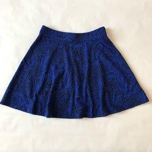 Dresses & Skirts - Blue and Black Print Skater Skirt
